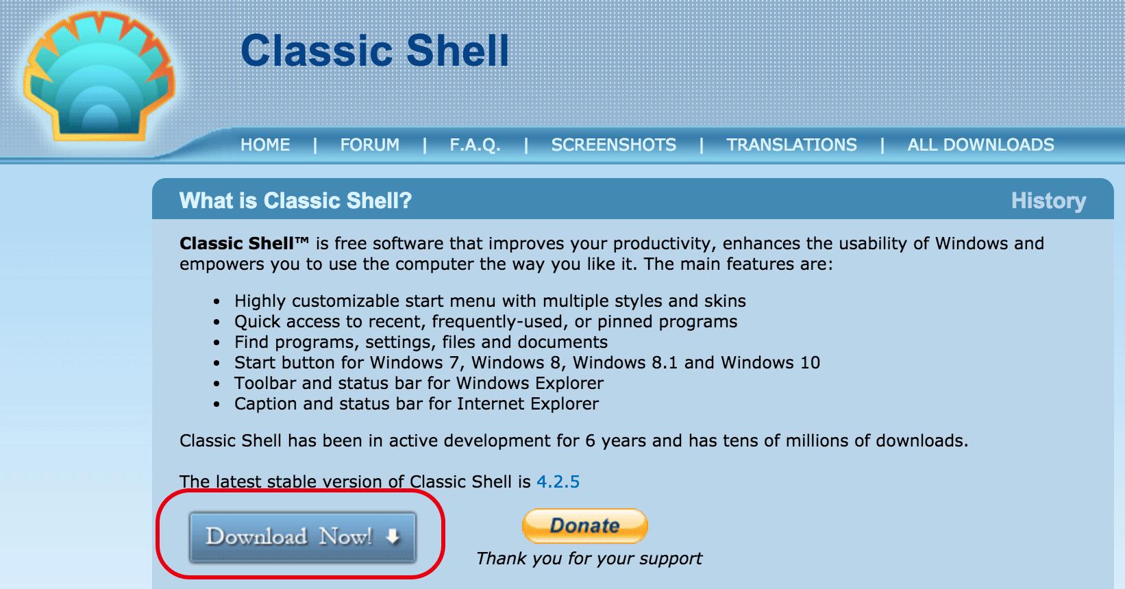 classicshell