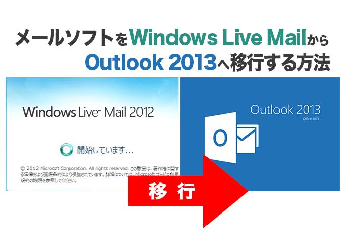 Windows Live MaiからOut look 2013へ移行する方法