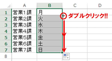 Excel基本編:曜日を連続入力する