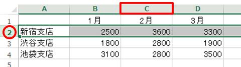 Excel基本編:行や列を選択する
