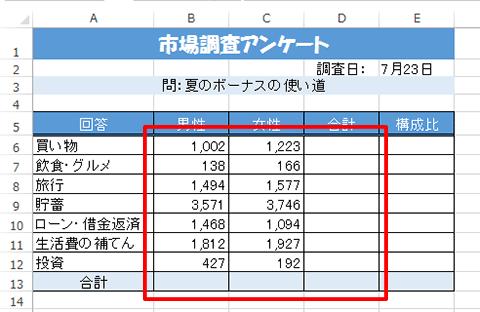 Excel基本編〜レッスン1:見やすい集計表を作成する〜数値を桁区切りで表示する