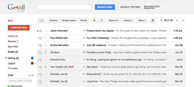 G mailは世界最高のクラウドメール