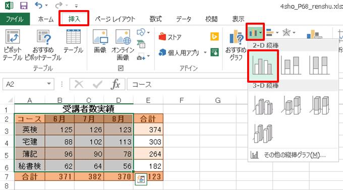 Excel基本編〜基本のグラフを作成する〜