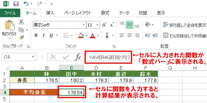 Excel関数編〜関数の基本と入力方法〜関数を使って複雑な計算を簡単に行う