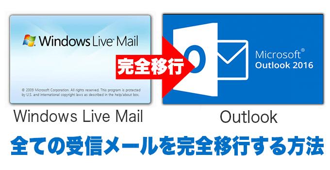 Windows Live MailのデータをOutlookへ完全移行する方法
